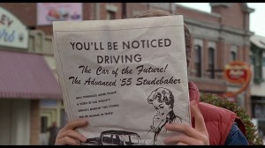 The paper as held by Michael J. Fox in &quot;Back to the Future&quot;